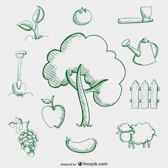 Bauernhof einfache zeichnungen