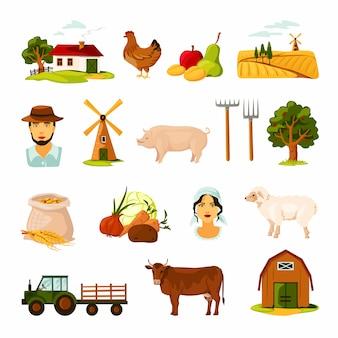 Bauernhof eingestellt