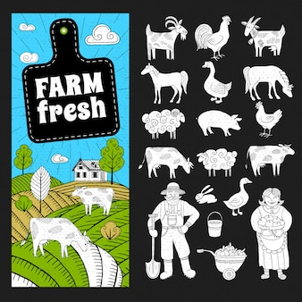 Bauernhof frisch eingestellt
