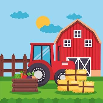 Bauernhof frische karikatur
