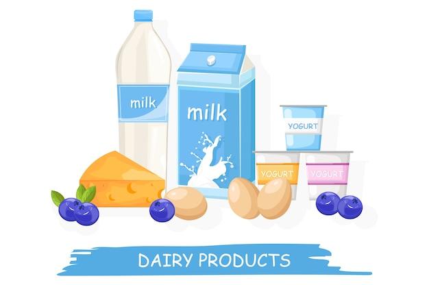 Bauernhof frische milchprodukte