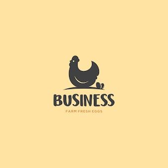 Bauernhof-frisches ei-logo