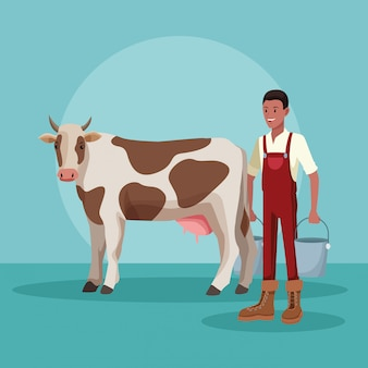 Bauernhof ländlichen cartoons
