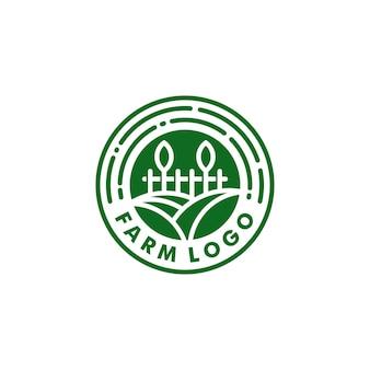 Bauernhof logo design natur symbol logo vektor