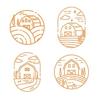 Bauernhof-logo festgelegt