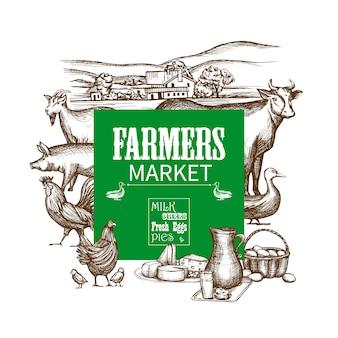 Bauernhof-marktrahmen