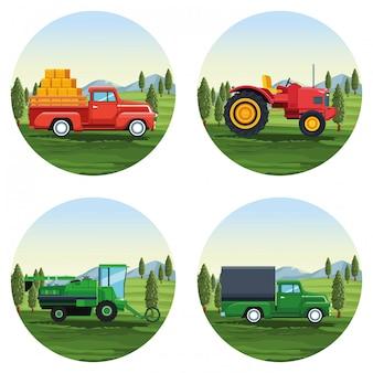 Bauernhof satz von cartoons