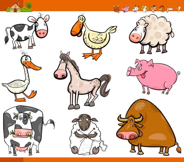 Bauernhof tiere cartoon-set