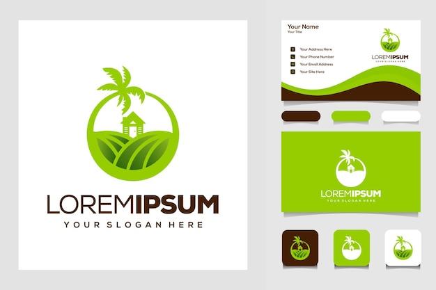 Bauernhof und zuhause modernes logo
