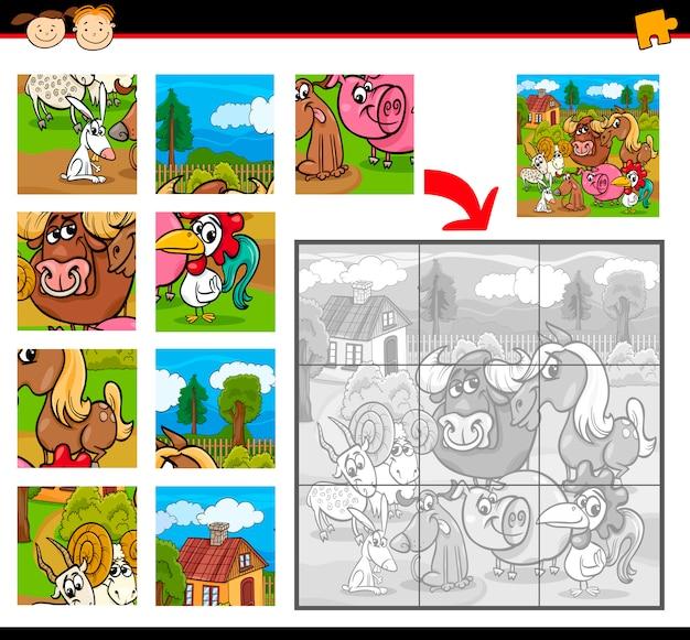 Bauernhoftiere puzzle-spiel