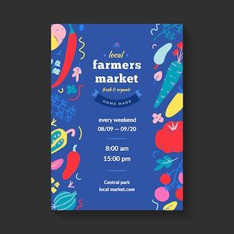 Bauernmarkt flyer, layout für lokale messe