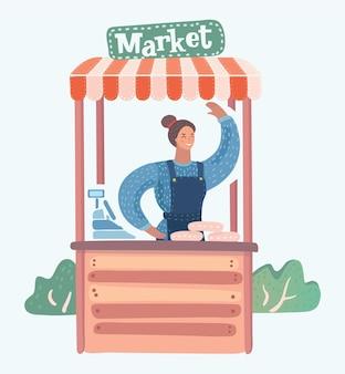 Bauernmarkt Premium Vektoren