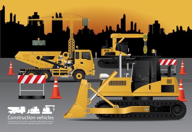 Baufahrzeuge eingestellt