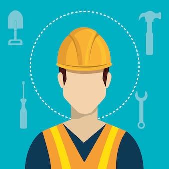 Baugewerbe und werkzeuge