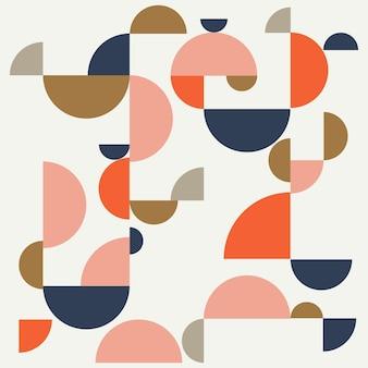 Bauhaus-abstrakter memphis-hintergrund