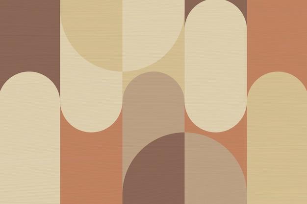 Bauhaus-hintergrund, braune erdton-vektortapete