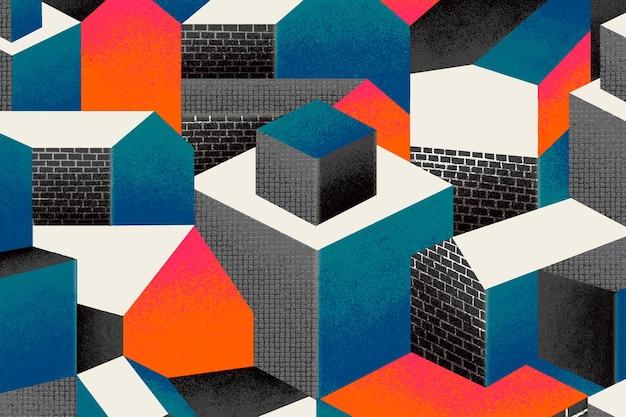 Bauhaus inspirierter musterhintergrund