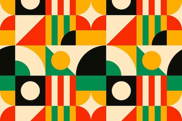 Bauhaus inspiriertes muster flacher hintergrund