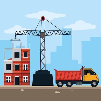 Bauindustrie-konzept