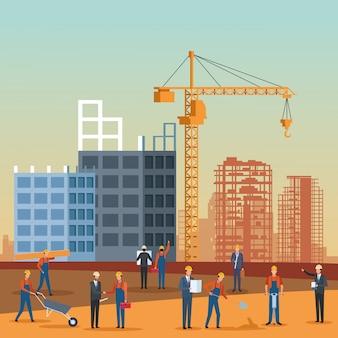 Bauingenieur-karikatur