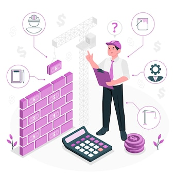 Baukostenkonzept illustration