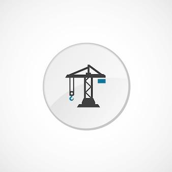 Baukransymbol 2 farbig, grau und blau, kreisabzeichen
