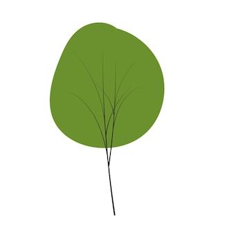 Baum auf kritzeleien gesetzt vektor zu jeder jahreszeit winter frühling sommer herbst flachen stil