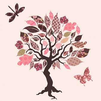 Baum design-hintergrund