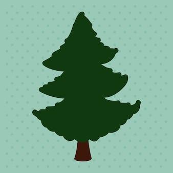 Baum design über blauem hintergrund vektor-illustration