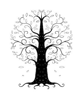 Baum hand gezeichnet