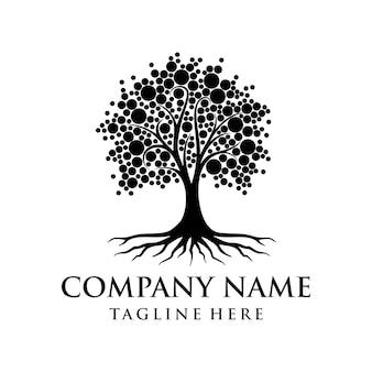 Baum-logo-design-wurzel vektor baum des lebens-logo-design-inspiration