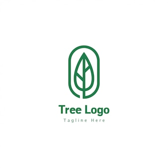 Baum logo geometrisch