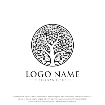 Baum logo inspiration flaches design