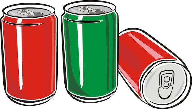 Baum red aluminium can