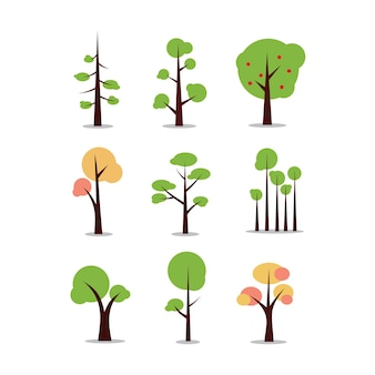 Baum sammlung clipart vektor