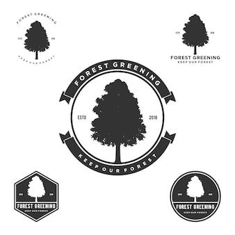 Baum-silhouette logo vintage