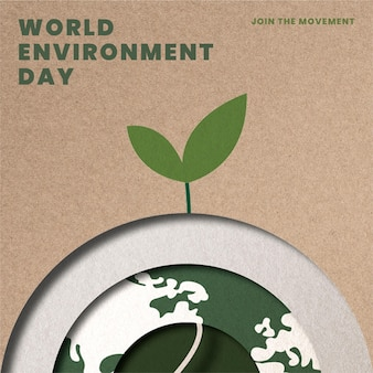 Baum wächst auf globusvorlage save the planet kampagne