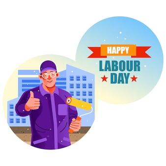 Baumaler happy labor day