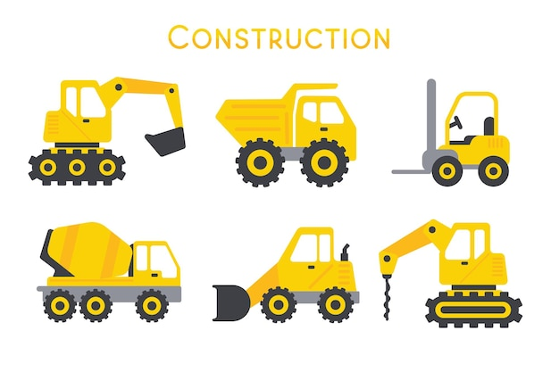 Baumaschinen für den automobilbau.