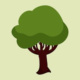 Baumdesign über grünem hintergrund vektor-illustration