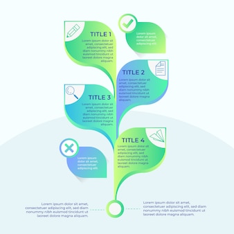 Baumgradienten-infografik
