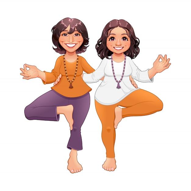 Baumhaltung im yoga