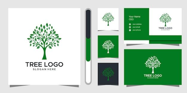Baumlogodesign und visitenkarte.