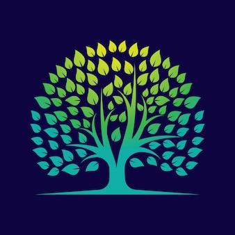 Baumverlauf-logo-vorlage