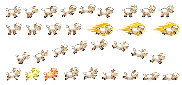 Baumwollschafe spiel sprites