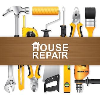 Bauwerkzeuge für die Reparatur zu Hause