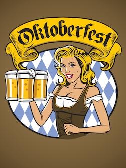 Bayerisches mädchen oktoberfest