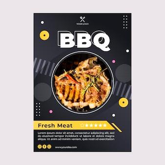 Bbq beste fast-food-restaurant flyer vorlage