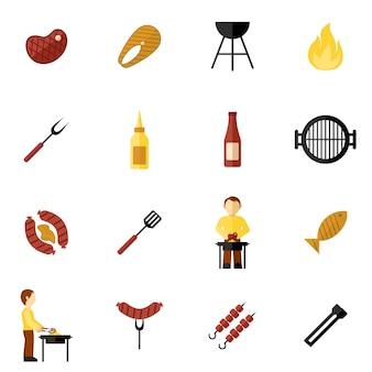 Bbq-grill-symbol flach