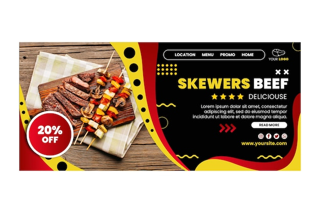 Bbq landing page template design